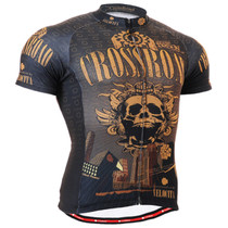 Fixgear cyclist biking skull jersey short sleeve for men