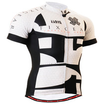 Fixgear cyclist biking jersey white short sleeve for men