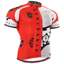 Fixgear cyclist biking jersey red short sleeve for men