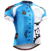 Fixgear cyclist biking jersey blue short sleeve for men