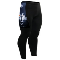 fixgear cycling bike padded tight pants wolf printed black