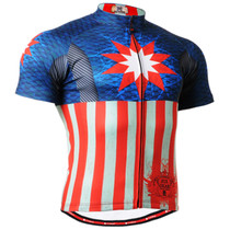 Fixgear cycling biking jersey blue red shirts for men