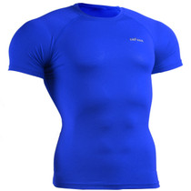 skin tight compression base layer Blue t shirt emfraa