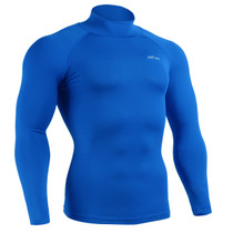 emfraa compression base layer mock neck blue
