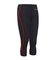 emfraa red stitching black capri yoga workout pants