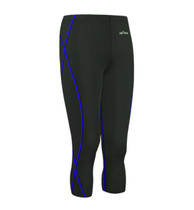 emfraa blue stitching black 3 quarter capri yoga workout pants