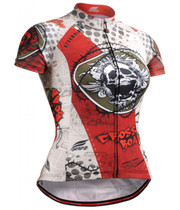 Fixgear skull printed women's cycling jersey