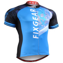 Fixgear blue cycling jersey short sleeve