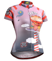Fixgear womens cycling jersey pink short sleeve