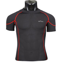 emfraa compression skin base layer short sleeve Black