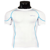 emfraa compression skin base layer short sleeve White