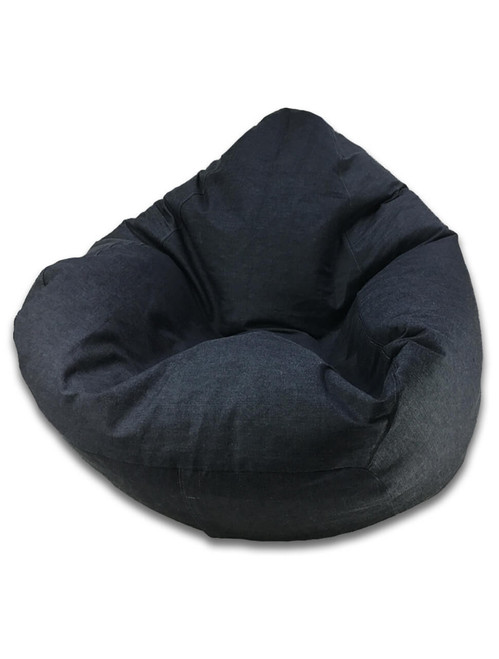 Denim King Size Bean Bag in Blue