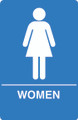 IS1003-15 Blue ADA Compliant Womens Restroom Sign