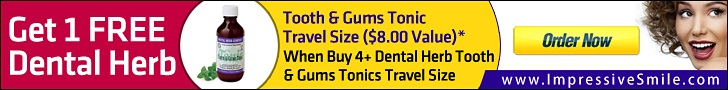 Get 1 Free Tonic Travel Size, When Buy 4+ Dental Herb  Tooth & Gums Tonics Travel Size by Impressive Dental