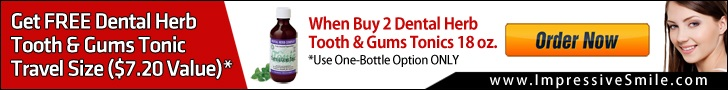 Get 1 Tonic Travel Size Free when Buy 2 Tonics 18 oz by Impressive Dental