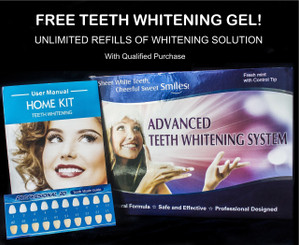 Teeth Whitening System with Free Refill Gel