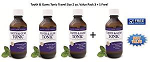 Tooth & Gums Tonic Travel Size Value Pack 3 with 1 FREE