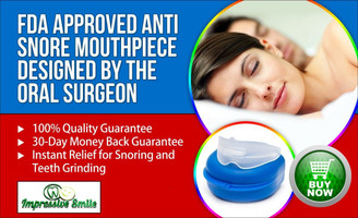 Best Anti Snoring Mouth Guard - FDA APPROVED - BPA FREE- Stops Teeth Grinding