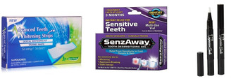 Teeth Whitening Strips 28 Count - No Tooth Sensitivity Senz-Away + 2 Teeth Whitening Pens