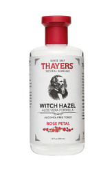Thayers Rose Petal Witch Hazel Alcohol-Free Toner with Aloe Vera 12 oz
