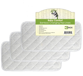 Bamboo changing pad liners pk/3