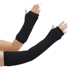 Long and short arm cast cover in classic solid black.