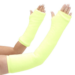 Long and short arm cast cover in bright neon yellow.  Bring sunshine with you wherever you go!