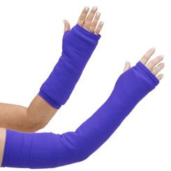 Slide this perfect purple arm cast cover over your arm cast and stop the scratching and snagging! Keeps the cast clean while being perfectly purple! Available in long and short styles.