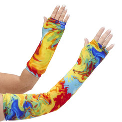 Swirls of yellows and reds, with whirls of blue and greens cover your arm cast like an artist's personal canvas. Available in both long and short arm styles.