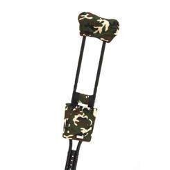 Standard Print Crutchwear - Camo Green Faux Fur