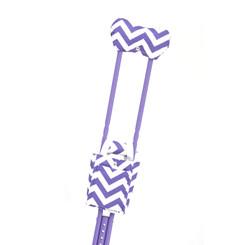 Standard Print Crutchwear - Purple Chevron