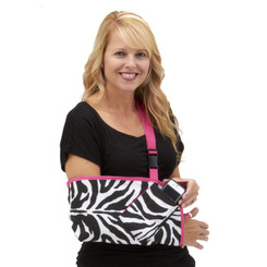 Our most popular Slingz!  Zebra with optional Berry Pink Trim and optional cell phone pocket.