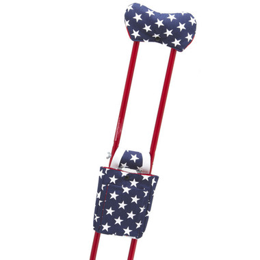 Patriotic Stars (shown with Candy Apple Red crutches)