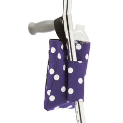 Forearm CrutchWear Bag in Purple Polka
