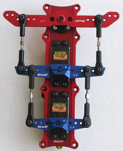 "Dual Rudder Arm Kit 3.5"" 4"" 4.5"" 5"""