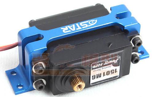 CNC Aluminum Alloy Servo Protector / Servo Holder/ Servo Mount Blue