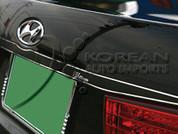 Hyundai Sonata Stainless Steel carbon pattern rear trunk accent trim 2006 2007 2008 2009 2010