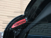 Captiva Caution Reflective Stickers