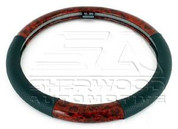 Faux Wood Grain Steering Wheel Cover