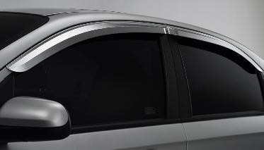 Aveo / Kalos 07+ Chrome Window Visors