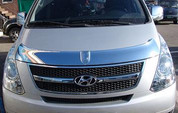 Hyundai Grand Starex Chrome Hood Guard clover brand 2pc design