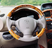Getz / Click Wood Grain Steering Wheel Cover Set