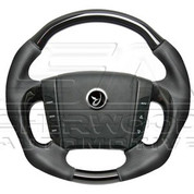 Actyon Black Leather Steering Wheel