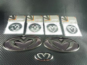 Getz / Click M&S Black Carbon 7 Piece Emblem Package