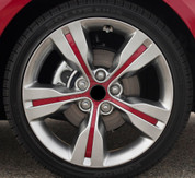 Veloster Red Sport Wheel 18""