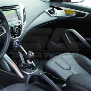 2001 Hyundai Elantra Custom >> Veloster Custom Carbon Interior Handle Set 2pc - Korean Auto Imports