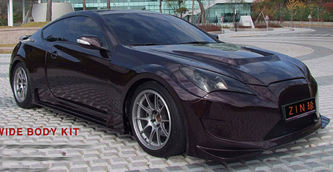 genesis coupe zin wide body kit korean auto imports. Black Bedroom Furniture Sets. Home Design Ideas