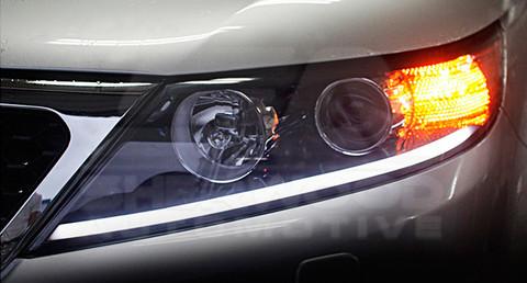 2011 Sorento 2 Way Led Illuminated Headlight Module Set
