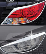 2011+ Accent / Verna Chrome Headlight/Taillight Trim 4pc Package