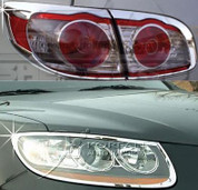 2010+ Santa Fe Chrome Headlight/Taillight Trim 4pc Package